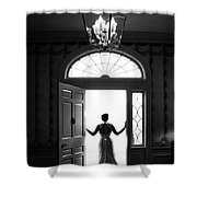 Bride Silhouette  Shower Curtain