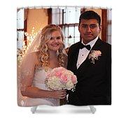 Brideandgroom Shower Curtain