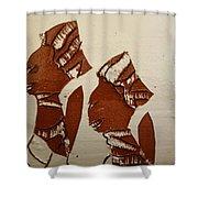 Brides Await - Tile Shower Curtain