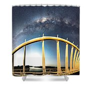 Bridge Across The Galaxy Shower Curtain