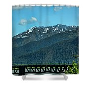 Bridge Alaska Rail  Shower Curtain