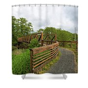Bridge Along Lewis And Clark Hiking Trail  Shower Curtain
