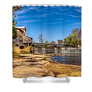 Bridge And Creek In The Fall Shower Curtain