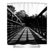 Bridge And Tunnel - B/w Shower Curtain