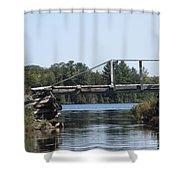 Bridge At Chub Shower Curtain
