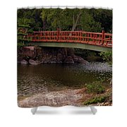 Bridge At Morikami Shower Curtain
