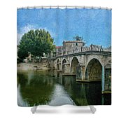 Bridge At Quissac - P4a16005 Shower Curtain
