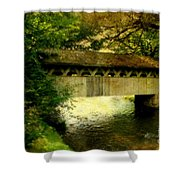Bridge At Red Mill Shower Curtain