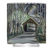 Covered Bridge Sleeping Bear Dunes  Shower Curtain