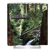 Bridge At Sol Duc Fall #1 Shower Curtain