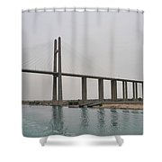 Bridge At Suez Shower Curtain