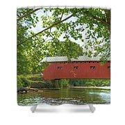 Bridge At The Green - Widescreen Shower Curtain