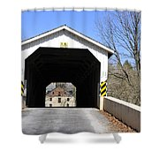 Bridge At The Mill. Shower Curtain