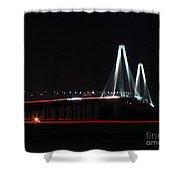 Bridge Blur - Digital Art Shower Curtain