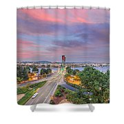 Bridge Closure Shower Curtain