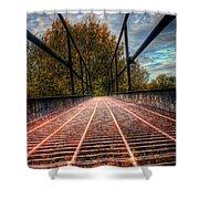 Bridge Crossing  Shower Curtain