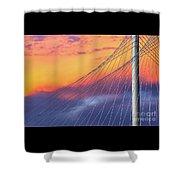 Bridge Detail At Sunrise Shower Curtain