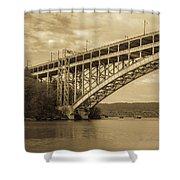Bridge From The Train Shower Curtain