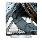 Bridge Gears Shower Curtain