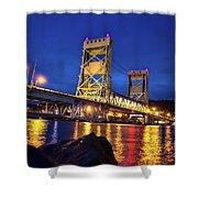 Bridge Houghton/hancock Lift Bridge -2669 Shower Curtain