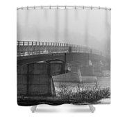 Bridge In Fog Shower Curtain