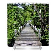 Bridge In Kosrae Shower Curtain