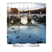 Bridge In Rome Shower Curtain
