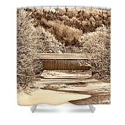 Bridge In Sepia Shower Curtain