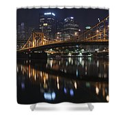 Bridge In The Heart Of Pittsburgh Shower Curtain