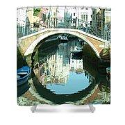 Bridge In Venice Shower Curtain
