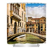 Bridge On The Canal Shower Curtain
