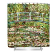 Bridge Over A Pond Of Water Lilies Shower Curtain