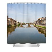 Bridge Over Arno River In Florence Italy Shower Curtain