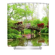 Bridge Over Calm Waters Shower Curtain