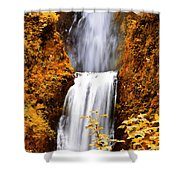 Bridge Over Cascading Waters Shower Curtain