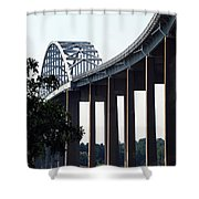 Bridge Over Delaware Chesapeake Canal Shower Curtain