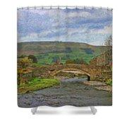 Bridge Over Duerley Beck - P4a16020 Shower Curtain