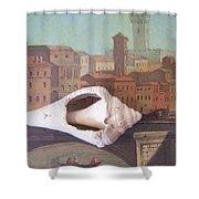 Bridge Over Florence Shower Curtain