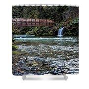 Bridge Over Hackleman Creek Shower Curtain