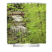 Bridge Over Little Clifty Falls Shower Curtain