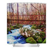 Bridge Over Mill Creek Shower Curtain