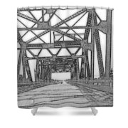 Bridge Over Mississippi Shower Curtain