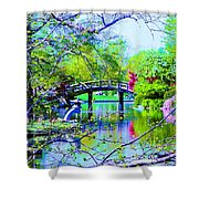 Bridge Over Peaceful Waters Shower Curtain