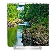 Bridge Over Quechee Gorge-vermont  Shower Curtain