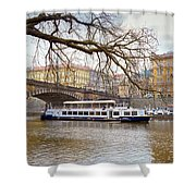 Bridge Over River Vltava Shower Curtain