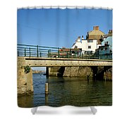Bridge Over Staithes Beck Shower Curtain