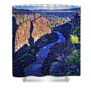 Bridge Over The Crooked River Gorge Shower Curtain