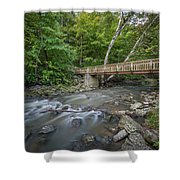 Bridge Over The Pike River Shower Curtain