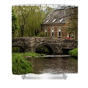 Bridge Over The River Clun Shower Curtain