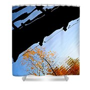 Bridge Over The River Sky Shower Curtain
